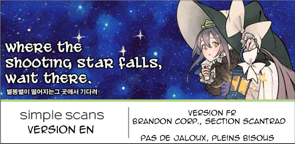 Wait Where the Shooting Star Has Fallen Ch. 1 là où tombe l'étoile filante, tu attendra